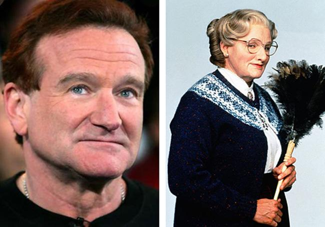 Robin Willimas Mrs Doubtfire Autors: dzelksnis Celebrity Movie Transformations