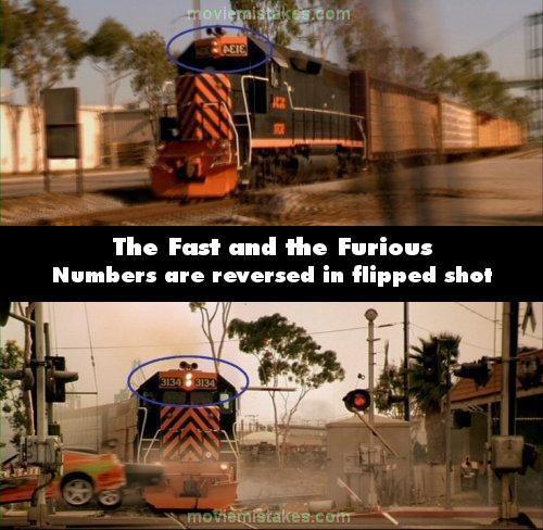 Nummuri uz lokomatīves ir... Autors: Senču Lācis Ātrs un Bez Žēlastības - Kļūdas (Fast & Furious)