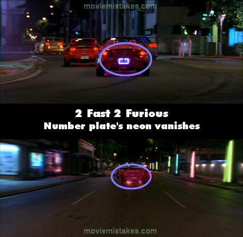 Nummurzīmes apgaismojums pēc... Autors: Senču Lācis Ātrs un Bez Žēlastības - Kļūdas (Fast & Furious)