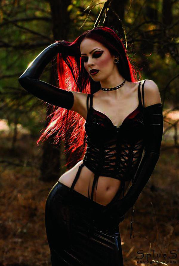 Wet sexy gothic sensual and