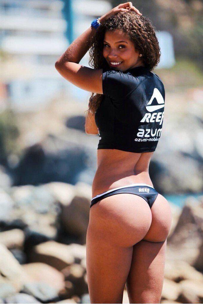 Little black girl nice round booty — 4