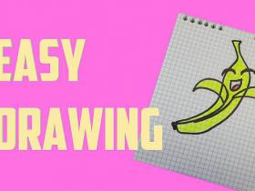 How to draw a cute banana