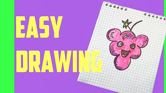 How to draw a cute grape
