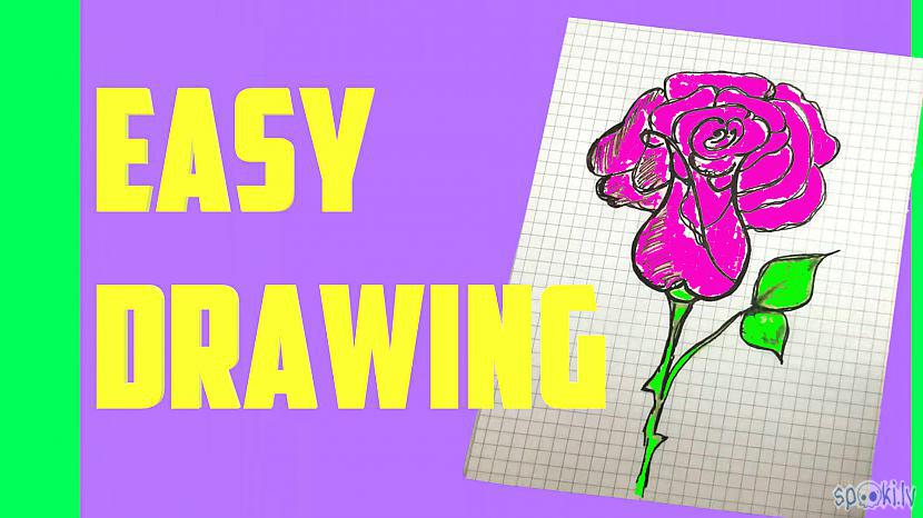How to draw a cute rose