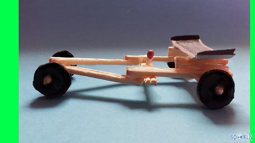 Autors: Halynka Georgiatx How to Make Amazing Rubber Band Powered F1 Racing Car from Matches